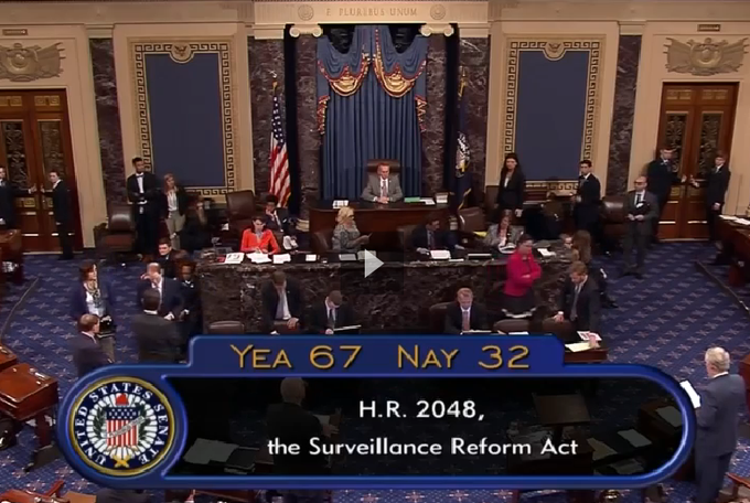 The US Senate passes the USA Freedom Act