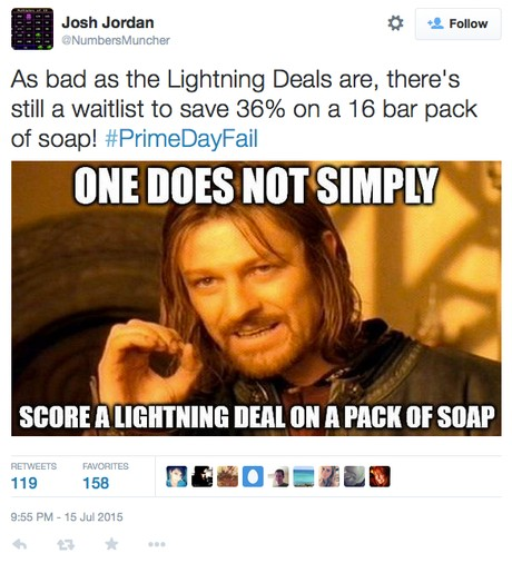 Tweet about Lightning Deals for a Pack of Soap