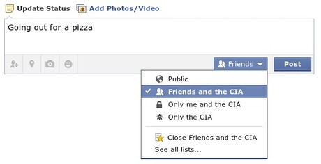 Facebook Cartoon: Sharing info with CIA